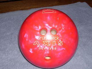 Brunswick Axis GEP1355 Bowling Ball Pink 12 lbs EUC