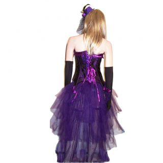 Valentina Burlesque Moulin Rouge Corset Bustle Skirt Costume Sz s M L