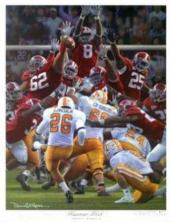 Alabama Football Daniel Moore Maximum Block Mini Print
