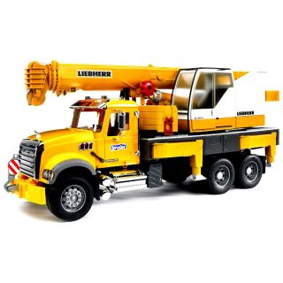 Bruder Toys Mack Granite Liebherr Crane Truck 02818