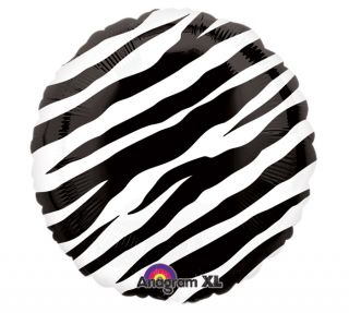 BIRTHDAY BABY SHOWER ZEBRA JUNGLE 18 BALLOON ANIMAL SAFARI ZOO & FREE