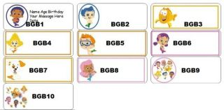 Personalized Bubble Guppies Birthday Bubble Favor Labels Party