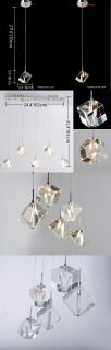 New Modern Crystal Bubble Shade Ceiling Light Pendant Lamp Fixture