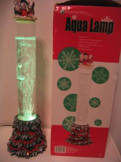 RARE 22 Xmas Water Aqua Bubble Table Standing Lamp Tube Color
