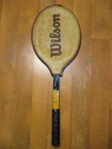 Earl Buchholz Jr 4 1 2 Vintage Wooden Tennis Racquet Racket Wilson