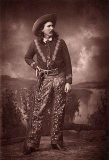 Buck Taylor Cowboy King Wild West Show Buffalo Bill Cabinet Photo Gun
