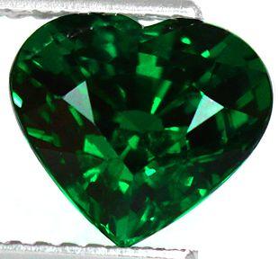 38ct Heart Cut Natural Intense Green Tsavorite Garnet