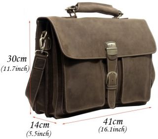 Leather 16 Laptop Bags Briefcase Tote Business Cases Tiding