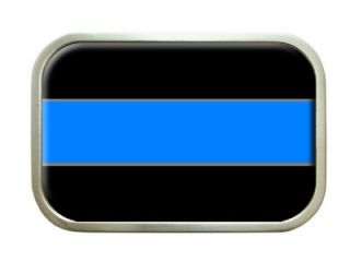 Thin Blue Line Police Belt Buckle