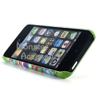 Green Bubbles Gem Bling Hard Case Cover for Apple iPhone 5 5g 6th Gen
