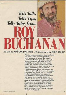 Roy Buchanan Telly Talk Up Close and Personal DVD