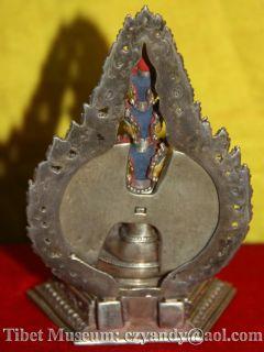 Amazing Sacred Old Antique Tibetan Buddhism Pure Silver Buddha Statue