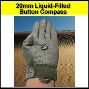 button compass liquid filled 20mm accurate liquid damped fast acting