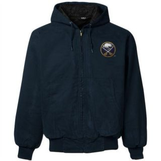 Buffalo Sabres Cumberland Brushed Twill Full Zip Hoodie Jacket   Navy