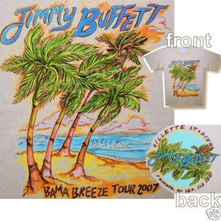 Jimmy Buffett 2007 Tour Gillette Stadium T Shirt s New