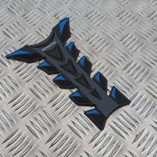 Blue Universal Motorcycle Fuel Petrol Tank Protector Pad Honda Yamaha