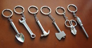 High Quality Stainless Steel Key Chain Keyring Multiple Tools Pattern