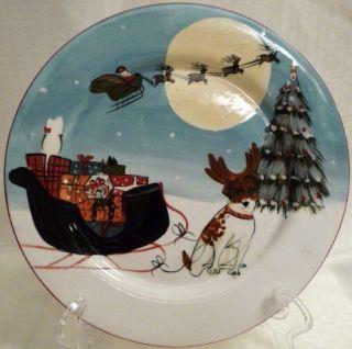 Sakura David Brown Merry Little Christmas Dinner Plate