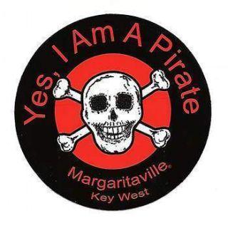 Jimmy Buffett Margaritaville Yes I Am A Pirate Decal