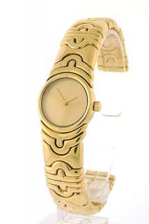 Ladies Parentesi 18K Yellow Gold Bangle Bulgari Watch Quartz