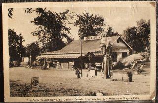 niagara st david s cabins old shell gas pumps pc