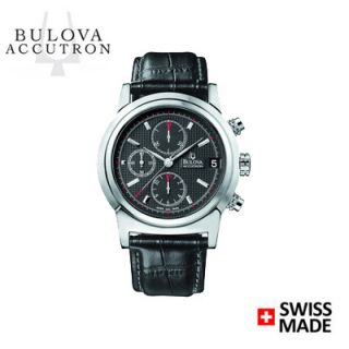 Bulova Accutron Mens 63B018 Farnsworth Chronograph Swiss Jewel