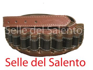 Cartuccera Caccia in Pelle Tricolore Cal 12 Cartucciera Leather