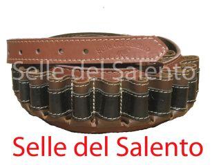 Cartuccera Caccia in Pelle Tricolore Cal 12 Cartucciera Leather