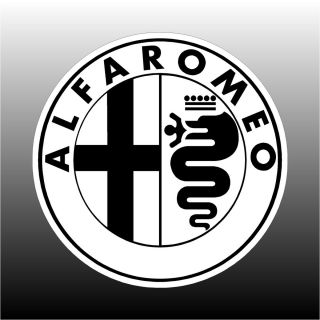 Alfa Romeo Logo 6 Round Bumper Sticker Decal