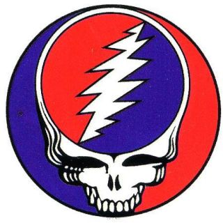 Grateful Dead 5 inch Steal Your Face Bumper Sticker