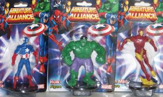 Avengers Iron Man Captain America Hulk Cake Topper Figures Lot