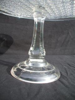 American Pattern Glass Pedestal Cake Stand Mystery Pattern