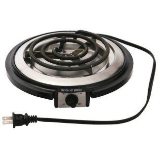Electric Single Burner Hot Plate Portable Cook Top Drip Pan Stove