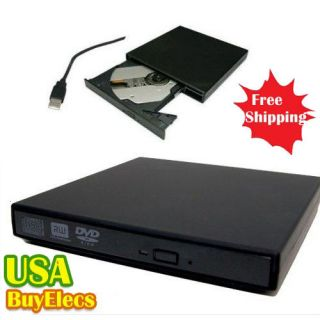Slim External USB 2 0 Super Multi Burner CD DVD RW Burner Drive
