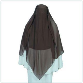 Brown Triangle Niqab Veil Hijab Abaya Khimar Burqa