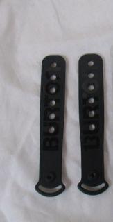 New Set Burton Snowboard Bindings Replacement Toe Slider Straps Black