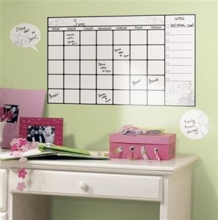 Calendar Wall Stickers 7 Stick UPS Home Office College Dorm Dry Erase