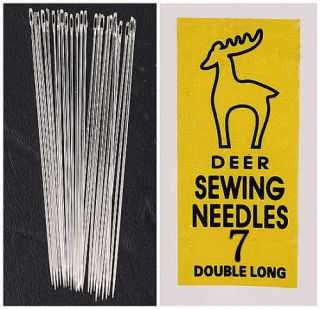 25pc 1 Pack Deer Button Sewing Long Needle 7 BA019 3