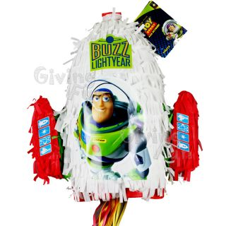 Authentic Toy Story Buzz Lightyear Pull String Pinata Birthday Party