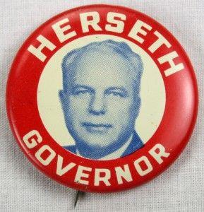 Political Campaign Button Bushfield Herseth Gubbrud Pinback Rare