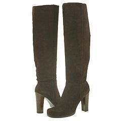 New Charles David Dark Brown Suede Tall Boots 9