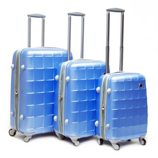CalPak Napoleon 3 Piece ABS Expandable Hardside Spinner Luggage Set