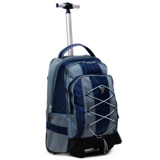 CalPak Impactor 18 Inch Single Pole Rolling Backpack Navy Blue