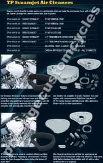 TP Engineering Open Scramjet Air Cleaner Kit for Harley