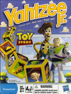 Disney Pixar Toy Story Yahtzee Jr Game Woody Buzz New