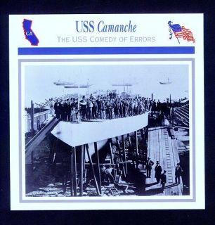 USS Camanche Civil War History Card e USS Comedy of Errors