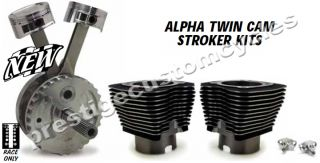 Jims 116 Alpha Twin Cam Stroker Kit Black or Silver Finish Engine