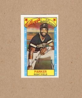 Dave Parker Pittsburg Pirates 21 1979 Kelloggs Card