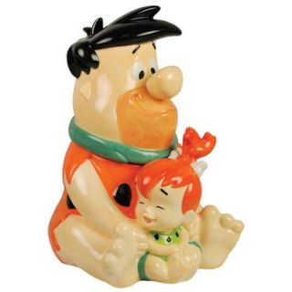 Flintstones Fred and Pebbles Flintstone Cookie Jar Westland Giftware