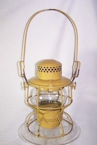 Chesapeake Ohio Yellow Railroad Railway Signal Lantern